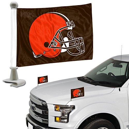 ProMark NFL Cleveland Browns Flag Set 2Piece Ambassador Stylecleveland Browns Flag Set 2Piece Ambassador Style, Team Color, One Size Cleveland Browns 2 Piece Car