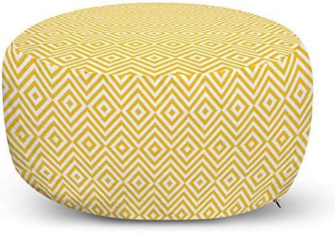 Ambesonne Yellow Ottoman Pouf