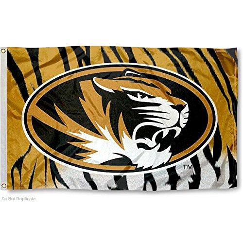Missouri Tigers Tiger Stripe Flag Large 3x5