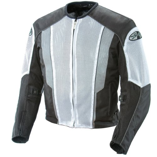Joe Rocket Phoenix 5.0 Mens White/Black Mesh Motorcycle Jacket - 2X-Large