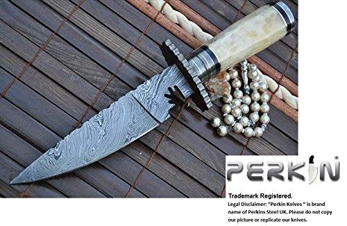Perkin Knives Custom Handmade Damascus Hunting Bowie Knife