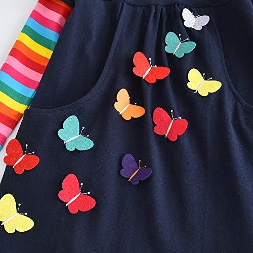 Vikita Bébé Vêtements Filles Coton Manches Longues Robes Pour Filles 2-8 Ans Enfants Lh5805