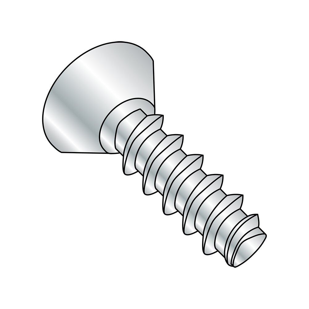 3//8 Length Pack of 100 Steel Thread Rolling Screw for Plastic #6-19 Thread Size Pack of 100 3//8 Length Small Parts 0606LPU Zinc Plated 82 Degree Flat Undercut Head Phillips Drive