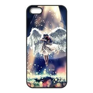 LZHCASE Diy Customized Hard Case Fantasy Angel for iPhone 5,5S [Pattern-1]