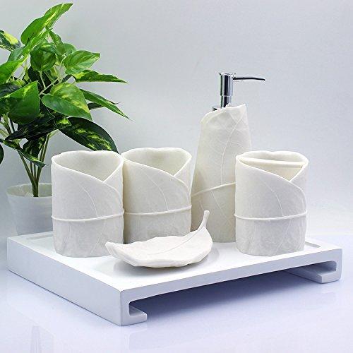 HJKY bathroom accessories set Bagno creativi 5 kit pezzo continentale standard high water kit di cortesia da bagno spazzolatura cup coppa di risciacquo, creative lascia il set da 6 pezzi
