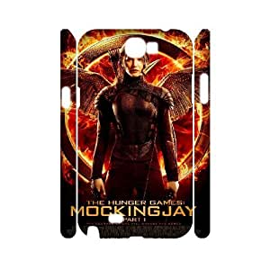 3D Samsung Galaxy Note 2 Cases The Hunger Games Quotes Mockingjay, Mens Designer The Hunger Games Cases Yearinspace, {White}