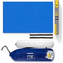 Premium Puzzle Mat for jigsaw puzzles. Beautiful Blue Higher Quality felt lays flat with no creases for your enjoyment. This Jigsaw Puzzle Mat roll up storage will fit 500 1000 1500 piece jigsaws