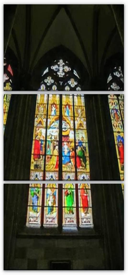 Wall Art COLOGNE GERMANY SEPTEMBER 18 2012 Stained glass window in Cologne Poster Decorative Painting Canvas Wall Decor 15