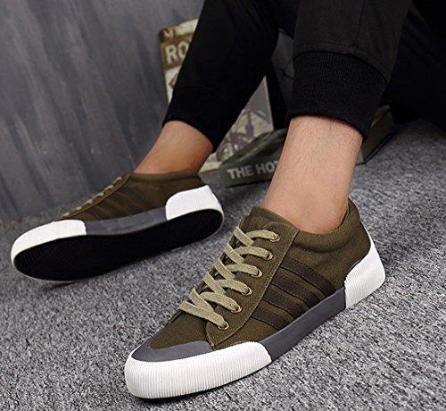 Honeystore Unisex-Erwachsene Sneakers Freizeitschuhe Sportschuhe Schnürer Stoffschuhe Fitness Streetstyle Flandell Grün