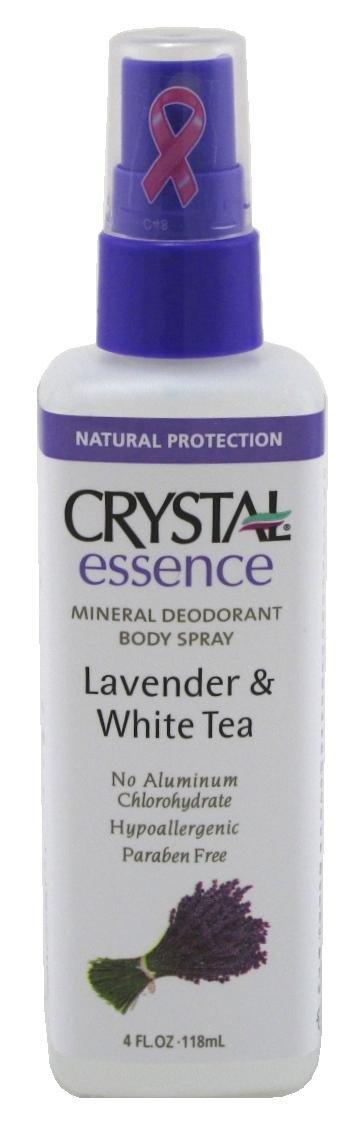 Crystal Essence Lavender and White Tea Body Spray - 4 oz - Liquid