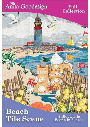 Anita Goodesign Embroidery Designs CD BEACH TILE SCENE by Anita Goodesign