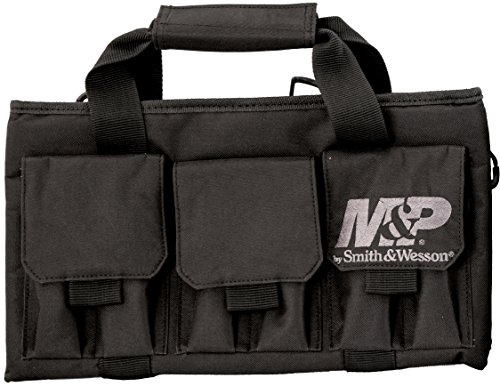 M&P by Smith & Wesson  Pro Tac Single Handgun Case Padded Pistol Bag for Hunting Shooting Range Sport Storage Transport