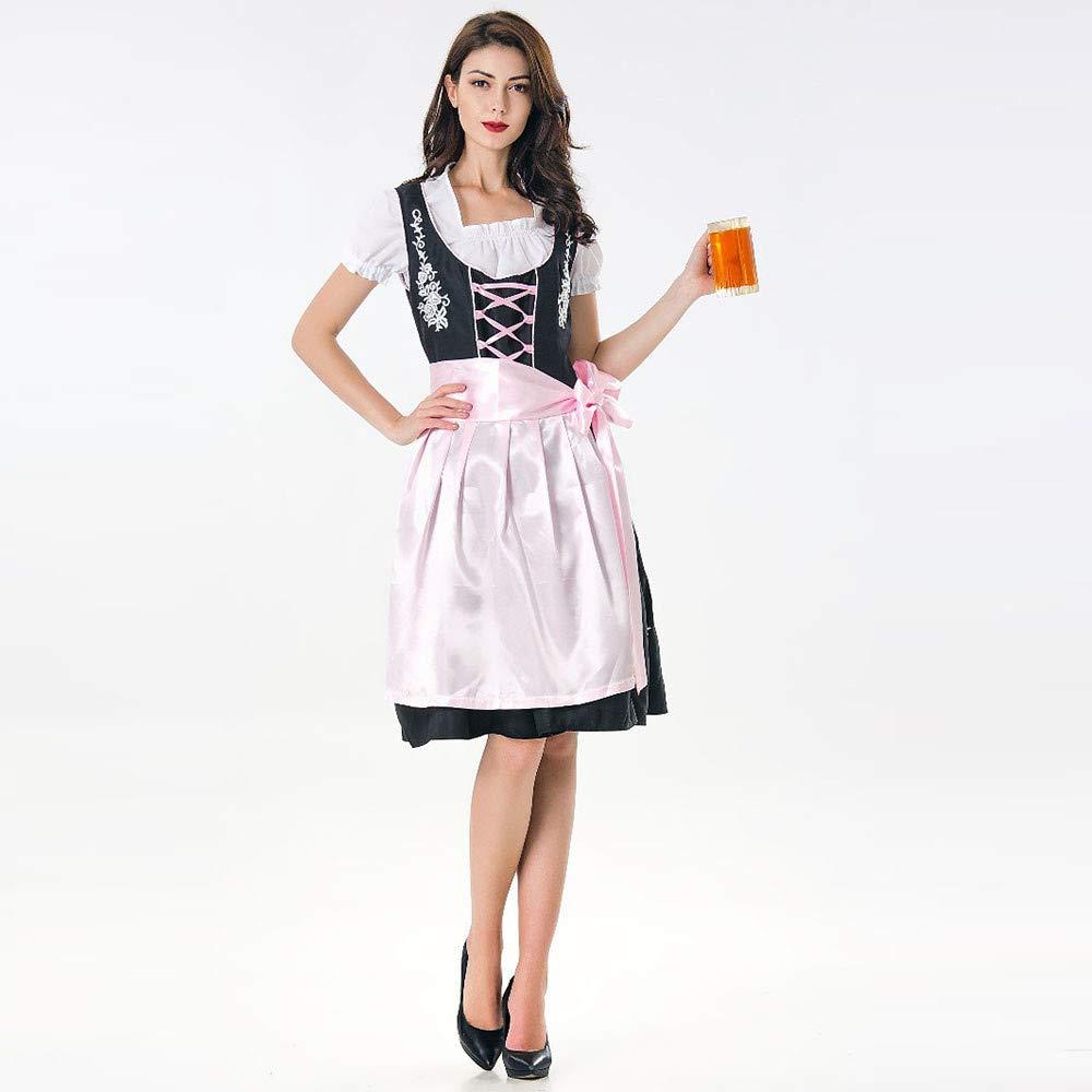 TianranRT❤ Disfraz Vestido Mujer 2 Piezas Vestido Dirndl ...