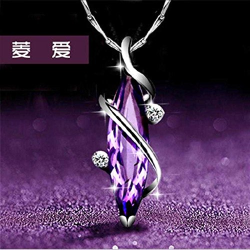 amethyst necklace Pendant chain clavicle _official_leisure_Miss_Han_Ban_ necklace Pendant s_ students _to_send_his_ girlfriend _a_ birthday gift - Official Ban