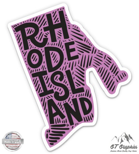 Rhode Island Shape Cute Letters Native Local - 5