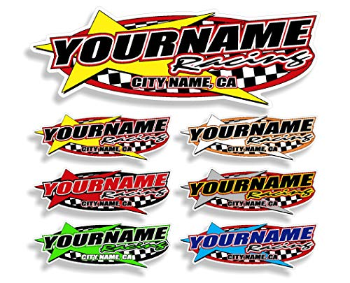 Custom Your Team Name Racing Trailer Decals | Your Name Trailer Stickers | Multiple Color & Size Options ()
