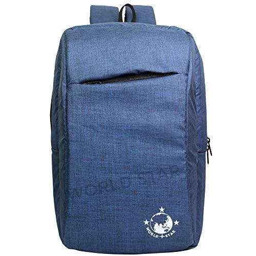 WORLDSTAR Laptop bagpack Bag Office Bag Travel Light Grey Casual 25L relif worldstar[Navy Blue)