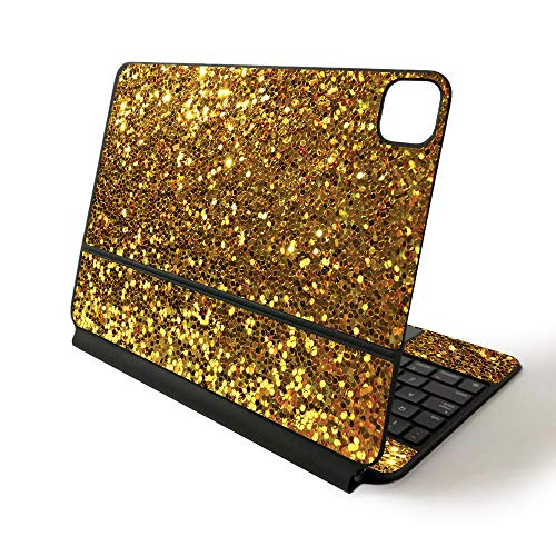 MightySkins Skin for Apple Magic Keyboard for iPad Pro 11-inch (2020) - Sushi | Protective, Durable, and Unique Vinyl Decal wrap Cover, Gold Dazzle (APIPSK1120-Gold Dazzle)