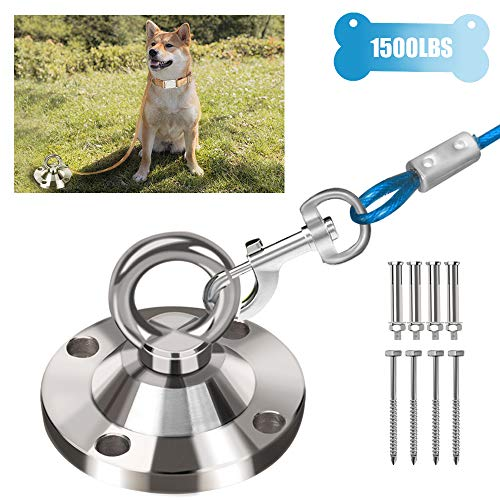 Highland Farms Select 360° Swivel Dog Tie Out Stake Dog Anchor – Heavy Duty Rust Proof Dog Yard Anchor with 2 Kinds of…
