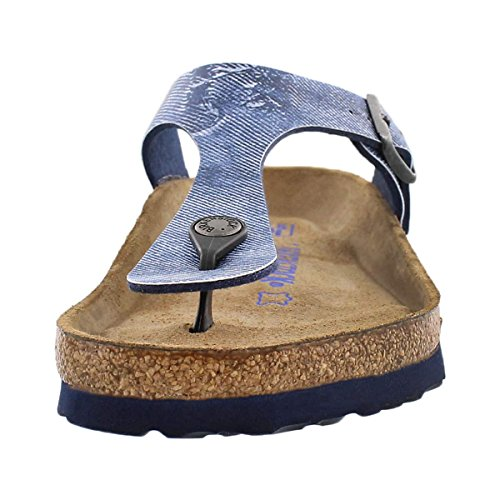 Birkenstock - Sandalias para mujer gris gris Used Jeans Blue
