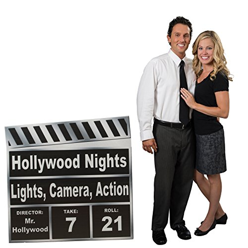 3 ft. 10 in. Small Hollywood Movie Star Clapboard Standee Standup Photo Booth Prop Background Backdrop Party Decoration Decor Scene Setter Cardboard Cutout