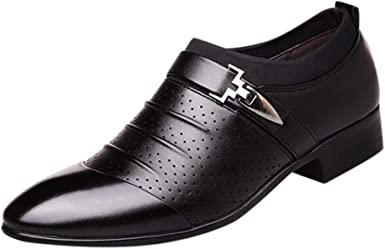 Leather Dress Shoes Pointed Toe Oxfords