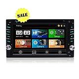 "New Arrival - Car Audio Double Din Car Stereo Radio Multimedia Head Unit- Touchscreen, Bluetooth, DVD/CD, USB/SD, AM/FM, MP3, 6.2"" LCD Monitor, Wireless Remote, Multi-Color Illumination"