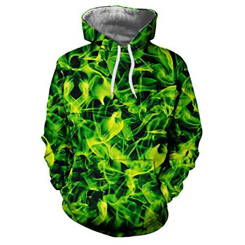 US ar 3D Printed Couple Hoodies Sweatshirts Funny Hip Women Men Hoodies Novelty Streetwear Hooded Male Tracksuits Green -