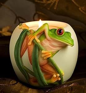Tree Frog Votive Candle Holder