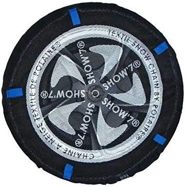 Valise comprenant 2 chaines textile et 1 paire de gants Chaussette neige textile pneu 195//80R16 excellente protection de la jante