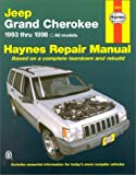 Jeep Grand Cherokee Automotive Repair Manual: All Jeep Grand Cherokee Models 1993 Through 1998 (Haynes Automotive Repair Manual Series)