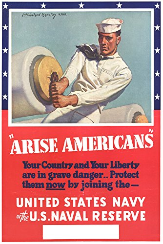 US Navy Vintage Poster - Arise Americans Collectible Giclee Gallery Print, Wall Decor Travel
