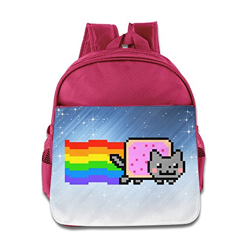 [ELF STORY - Nyan Cat Rainbow Png Little Kid Baby Boys Girls Toddler School Backpack Pink] (Baby Ruth Costume)