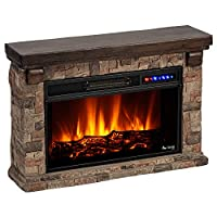 e-Flame Fireplace Mantel and Electric LE...