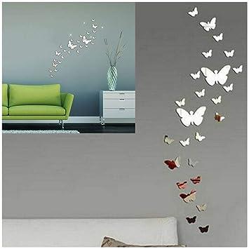 Specchio Bagno A Farfalla.Swirlcolor 30pcs Farfalla Combinazione 3d Specchio Wall Stickers Home Decoration