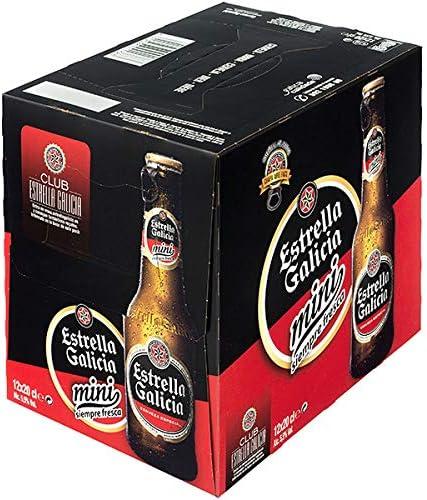 Estrella Galicia Mini cerveza rubia especial pack 12 botellas 20 ...