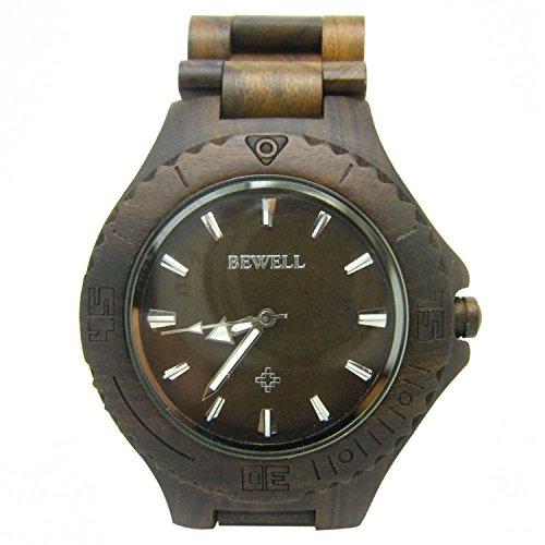Surfwheel Bewell Men Classic Natural Wooden Watch Wristwatch (Gift Ideas)
