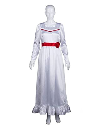 halloween party online womens annabelle costume white small