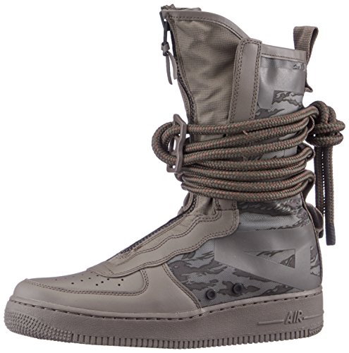 NIKE Mens SF Air Force 1 High Premium Boots Ridgerock / Black-sequoia