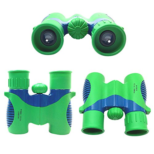 Kids Binoculars Set Shock Proof 8×21 – Bird Watching – Educational Learning – Hunting – Hiking – Birthday Presents – Gifts for Children – Outdoor Play – Durable Toys for Boys and Girls