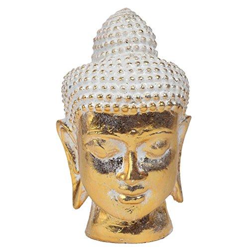 Cheap MyGift 8-Inch Vintage Rustic Gold Resin Meditating Buddha Head Decorative Statue Sculpture