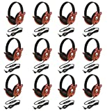 Califone 2810-BE Listening First Stereo Headphone, Bear Motif - Pack of 12