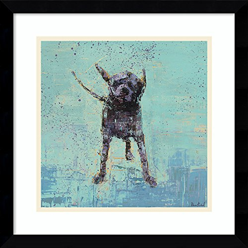 Amanti Art Print Outer Size 17 x 17 Framed Art Shake No. 3 Dog, Rebecca Kinkead: ()