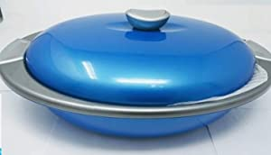 InDit Eleganza 2400mL Glass Lid Thermoware Casserole Hot Pot Food Warmer/Cooler, 2.4-Liter, Color may vary