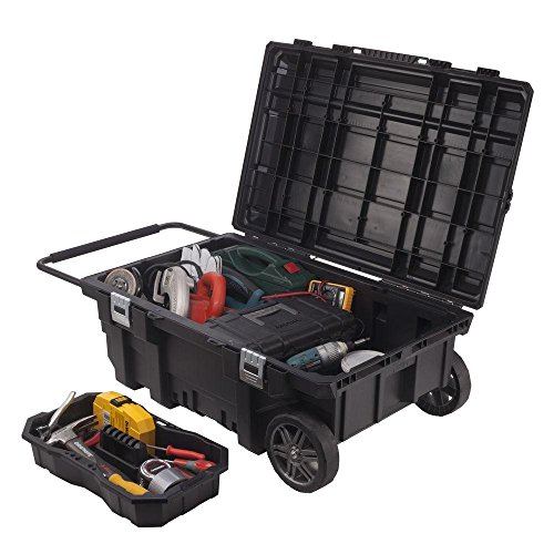 Husky 25 Gal Mobile Utility Work Cart For Tool Storage