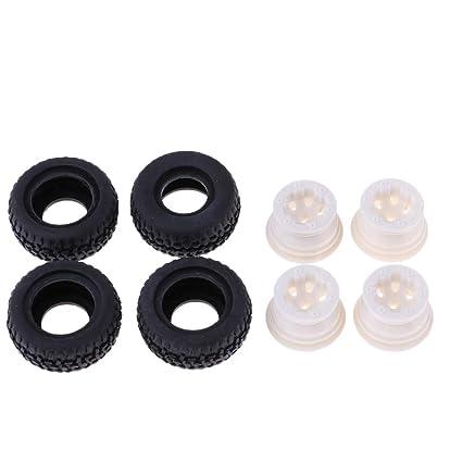 NON Homyl Neumáticos y Llantas para Camiones RC Escala 1/24 Neumáticos de Goma Accesorios