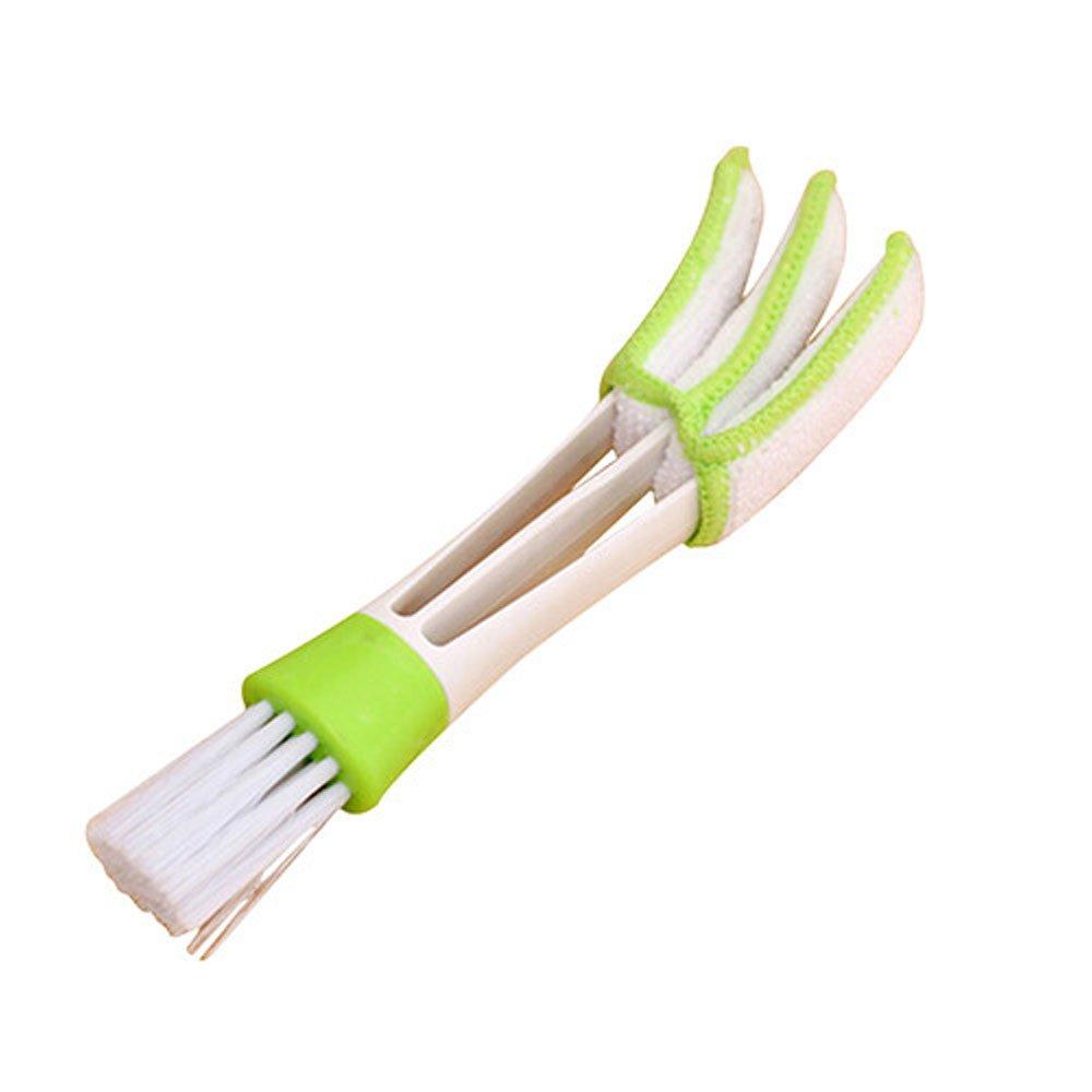 VANKER Doble Cepillo Esponja de limpieza para el enchufe de aire del coche, persiana de la ventana y teclado ect