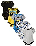 Warner Brothers Baby Baby-Boys Newborn Boy Batman 5 Pack Creeper, Grey, 3-6 Months