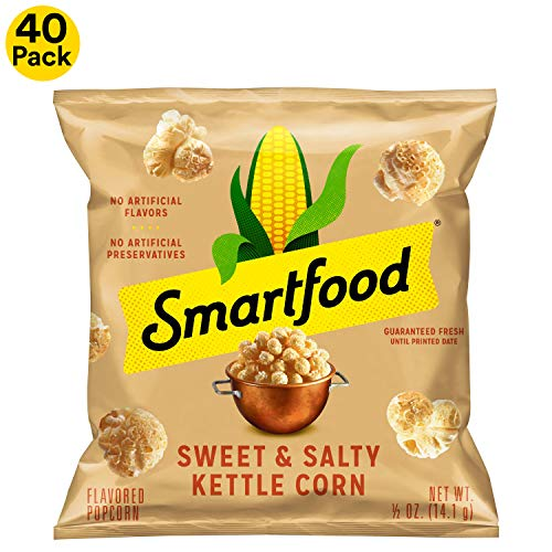 Smartfood Sweet & Salty Kettle Corn Flavored Popcorn, 0.5 Ounce (Pack of 40) (Best Corn For Popcorn)