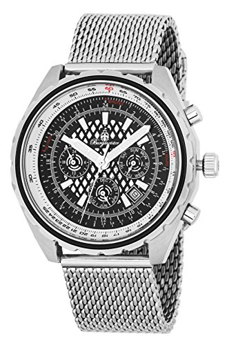 Burgmeister Men's Automatic Stainless Steel Casual Watch, Color:Silver-Toned (Model: BM353-121)